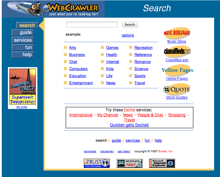 WebCrawler Screenshots